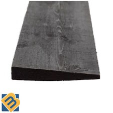 Black Feather Edge Boards - Fence Panels Cladding - Treated Timber