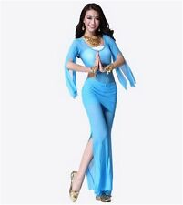 Belly Dance Gauze Tops Bra Costume+Gauze Pants Dancing Tribal Costume