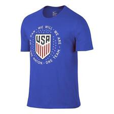 Nike United States USA Copa America 2016 Soccer Core Pride Fan Shirt New Royal