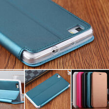 Luxury Slim Flip Cover Stand Wallet PU Leather Case Skin For Huawei Phones