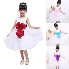 Princess Bowknot Child One Piece Toddler Baby Party Pageant Girl Tutu Dress 2-7Y