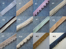 "5-10 Yards  0.5""  Elastic/Spandex Mini Scallop Edge Lace Trim/Band/Sewing zhj3"