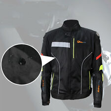 Mens Motorcycle Armor Jacket Motorcycle Enduro Touring Dual Sport Clothing Black