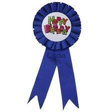 Happy Birthday Award Rosette Badge It's A Boy/Girl Baby Shower Party Favors