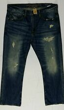 Mens Original Boot Jean 32x34 34x32 34x34 American Eagle Destroyed Dark Wash AEO