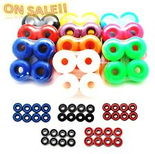 Wholesale lot 5sets skateboard wheels + 5sets skateboard bearings ABEC 7