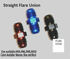 AN-4,6,8,10 Straight Flare Union Adapter JIC Flare MALE Hose Fitting Adapter