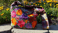 Guatemala hobo bags embroidered huipiles pink,multicolor florals spring in bloom