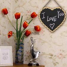 Wooden Hanging Small Blackboard Message Board Note Home Wedding Party Decoration