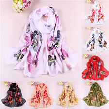 New Hot Butterfly Girl's Women Long Soft Wrap Lady Shawl Silk Chiffon Scarf W061