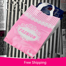 50pcs Plastic hand bags Shopping Carrier gift Bag for T-shirt shoes fashion bags