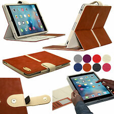 Suede Leather Wallet Smart Detachable Flip Folio Case Cover For All Apple iPads
