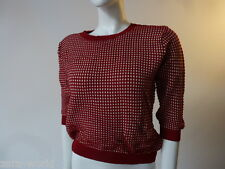 ZARA KNIT LOVELY  RED AND WHITE WOMEN'S CROP JUMPER SIZES S/M/L