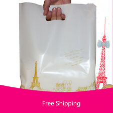 20 Plastic Gift Shopping Carrier Bags Merchandise Bags carton for T-shirt bags