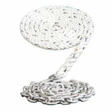 "WINDLASS ANCHOR RODE- 5/8"" 3 STRAND NYLON SPLICED TO 5/16"" GALVANIZED CHAIN"