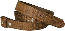 FRONHOFER Full-grain leather belt, croc-embossed interchangeable belt, snap belt