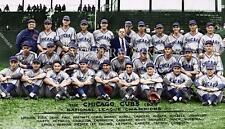 BS533 Chicago Cubs Team Picture 1938 Nat'l Champs Baseball 12x18 Colorized Photo