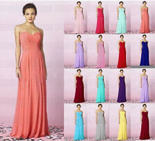 2016 Stock Formal Prom Gowns Long Bridesmaid Party Cocktail Evening Dresses 6-20