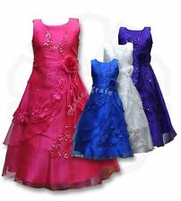Flower Girls Kids Wedding Formal Bridesmaid Party Ball Gown Prom Princess Dress