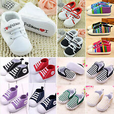Toddler Baby Girls Soft Sole Lace Up Non-slip Sneaker Boys Crib Shoes Prewalker