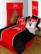 CHICAGO BULLS NBA BEDROOM SET WITH CURTAINS OPTION! BUNDLE AND SAVE!!!
