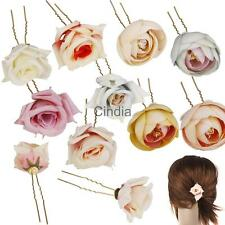 Bridal Wedding Flower Hair Clip Barrette Brooch Women Girls Accessories