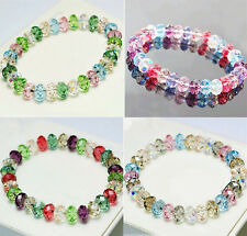 Beads Stretch Bangle Multicolor Fashion Woman Loose Crystal Faceted Bracelet