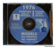 1976 Pontiac Shop Manual CD Catalina Bonneville Grand Prix Firebird Trans Am