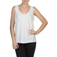 Fred Perry t shirt Woman white basic vest neckline Jersey fitness 43084 moda1