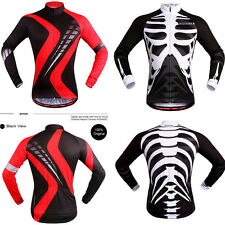 2 Styles New Men Bicycle Gear Cycling Jersey Long Sleeve Shirt Wear Riding Top