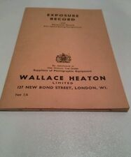 Vintage Camera Exposure Record Book Note Book Unused  By Wallace Heaton Ltd