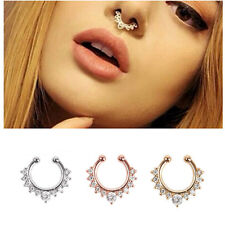 Alloy Nose Hoop Nose Rings Body Piercing Jewelry Fake Septum Clicker
