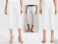 NWT $168 Eileen Fisher Organic Linen White Cropped Cargo Pants