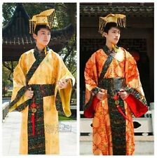 Hot Chinese Ancient Han Man Clothing Emperor Prince Show Cosplay Robe Costume