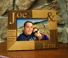 Personalized Laser Engraved Wood Picture Frame