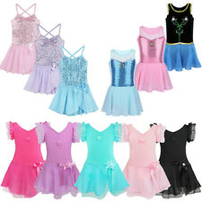 Toddler Girls Gymnastic Leotard Dress Ballet Tutu Skirt Dance wear Skate Costume