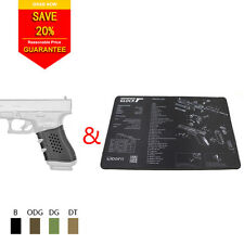 Lipoint Tactical Grip Sleeves+Gun Cleaning Mat for Glock 19/20/21/22/31/34/35/37