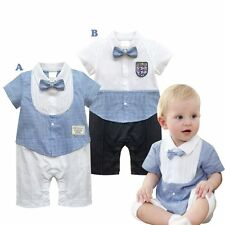 Baby Boy Wedding Christening Formal Party Tuxedo Outfit Suit Clothes Set 3-24M
