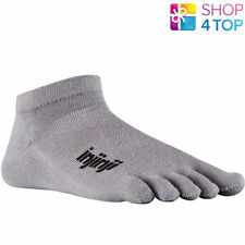 INJINJI SPORT RUN TOE SOCKS ORIGINAL WEIGHT MICRO GRAY FIVEFINGERS COOLMAX NEW