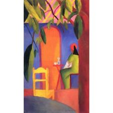 August Macke - Turkish Cafe 1914 Classic Art Vintage-Style Poster