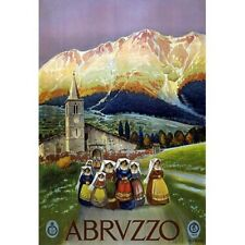 Abruzzo Italy Travel Advertisement Vintage-Style Poster