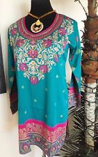 Indian Bollywood Kurta Kurti Designer Crepe Ethnic Dress Top Tunic Pakistani New