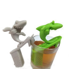 Cute Silicone Surfing Shark Infuser Loose Tea Leaf Strainer Herbal Spice Filter