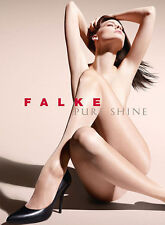 Falke Pure Shine 15 Denier Tights, Satin Finish Sheer Luxury Shiny Pantyhose