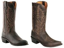 Lucchese M1004 74 Cole Mens Tan Ranch Hand Calfskin Leather Western Cowboy Boots