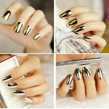 16 Pcs Gold Silver Lightning Minx Style Nail Art Patch Decals Stickers Manicure