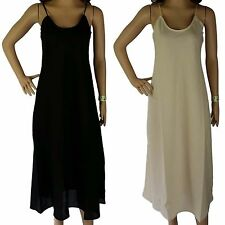 Size 12 FULL SLIP 100% COTTON NEW White Sand Black Ladies LONG Small Petticoat