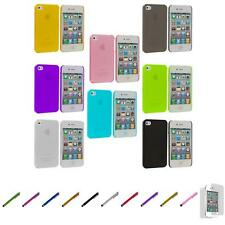 For iPhone 4 4S 0.3mm Super Ultra Thin Hard Case Cover+Screen Protector