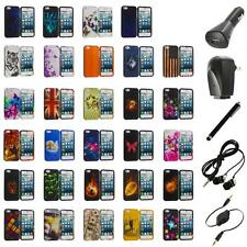For iPhone 5S 5 5G Hard Snap-On Design Rubberized Case Cover Skin+Accessories