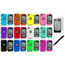 Deluxe Color Hybrid Case Cover+Guard+LCD Film+Stylus for iPod Touch 4th Gen 4G